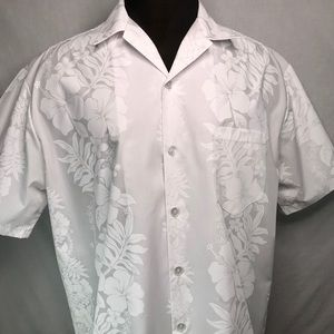 Hilo Hattie White Hawaiian wedding aloha shirt